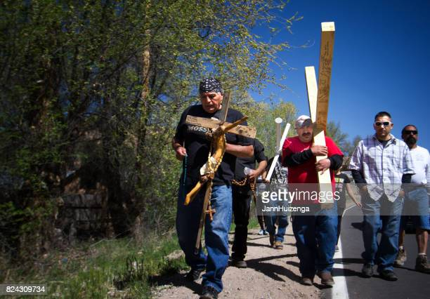 Chimayo, NM, USA: Good Friday Pilgrimage to Santuario de Chimayo