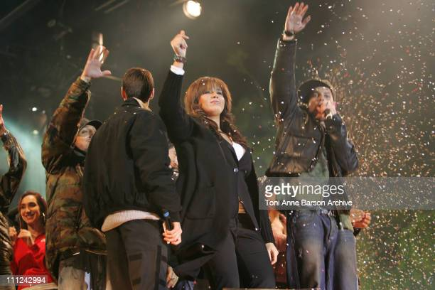 Chimene Badi and M Pokora during Concert des Pieces Jaunes a Nice Yellow Coins Concert to Help Children in Hospitals at Theatre de Verdure in Nice...