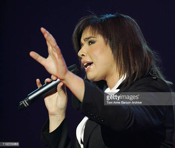 Chimene Badi during 2005 Night of the Proms at Bercy in Paris France