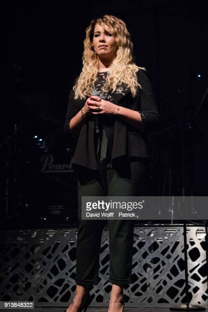 Chimene Badi performs at Le Bataclan on February 3 2018 in Paris France