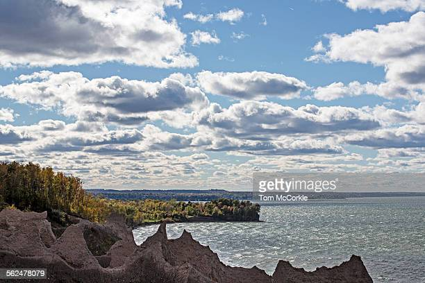 chimney bluffs state park - lake ontario stock pictures, royalty-free photos & images