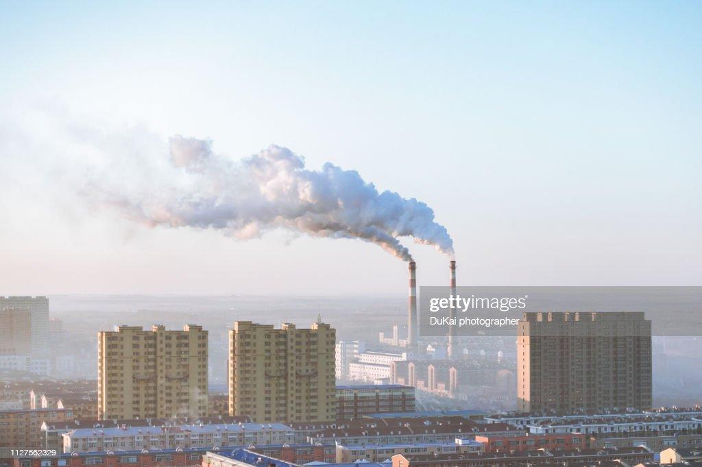 chimney in beijing : Stockfoto