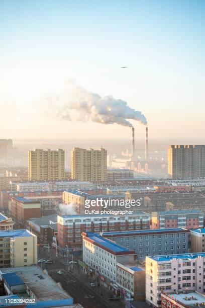 chimney in beijing - pequim imagens e fotografias de stock