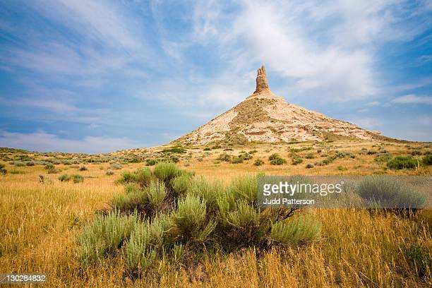 chimney rock - nebraska stock photos and pictures