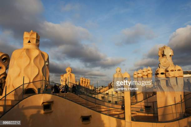 Chimney Stacks on Casa Mila by Gaudi
