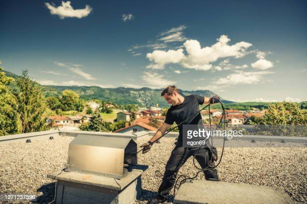 煙突掃除機 - 煙突 ストックフォトと画像