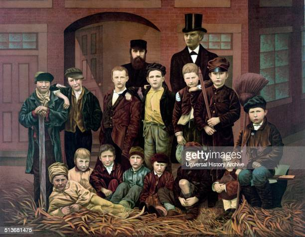 Chimney sweeps in London circa 1880 Children were employed due to there small size it permitted them to ascend into the chimney sacks in order to...