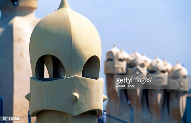 Chimneys at Casa Mila (La Pedrera