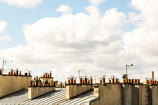 Chimneys on rooftops - gettyimageskorea