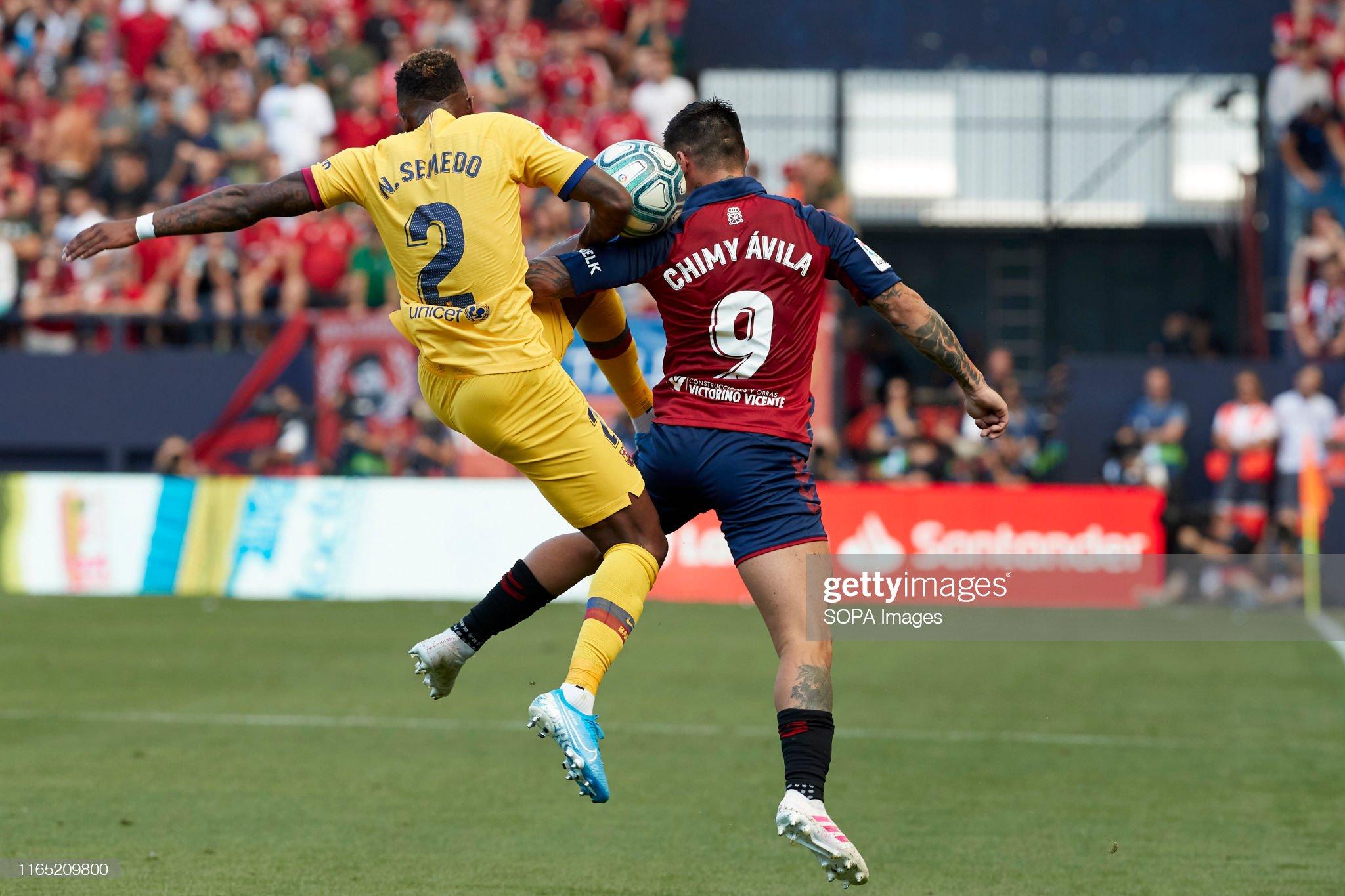 صور مباراة : أوساسونا - برشلونة 2-2 ( 31-08-2019 )  Chimy-avila-and-nelson-semedo-in-action-during-the-spanish-la-liga-picture-id1165209800?s=2048x2048
