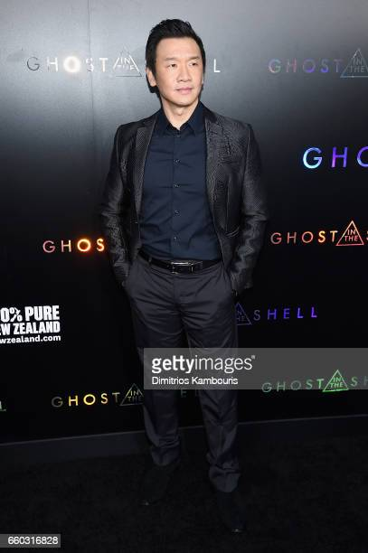 """Chin Han attends the """"Ghost In The Shell"""" premiere hosted by Paramount Pictures & DreamWorks Pictures at AMC Lincoln Square Theater on March 29, 2017..."""