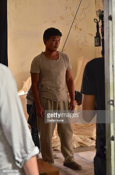 Chin Siuho prepares for stunt work on the Hong Kong film set of Rigor Mortis a horror film about vampires The film is Juno Mak's directorial debut...