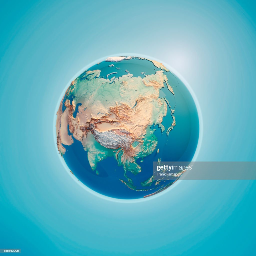 China 3D Render Planet Earth : Stock Photo