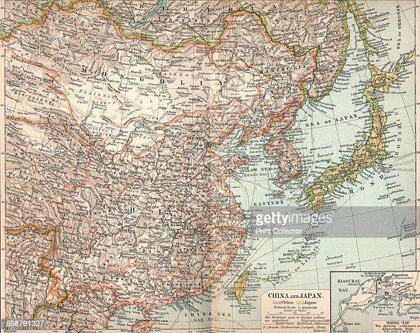 China and Japan circa 1903 From The Worlds History Volume II by Dr H F Helmolt [William Heinemann London 1904] Artist Unknown