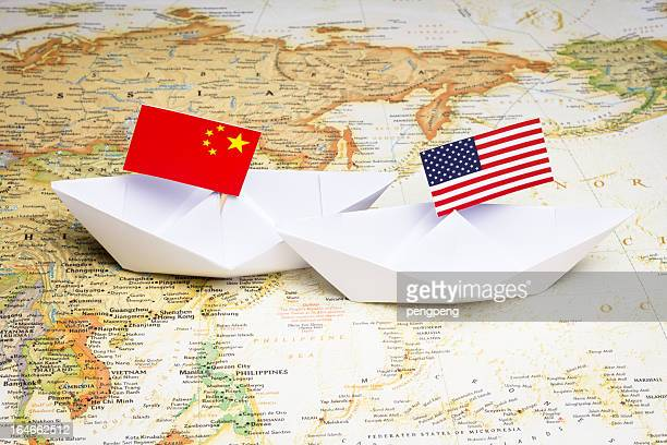 china and usa - verenigde staten stockfoto's en -beelden