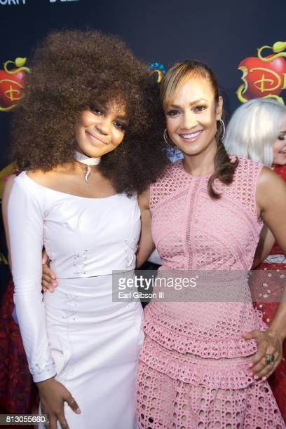 China Anne McClain and Tammy Townsend attend the Premiere Of Disney Channel's Descendants 2' at The Cinerama Dome on July 11 2017 in Los Angeles...