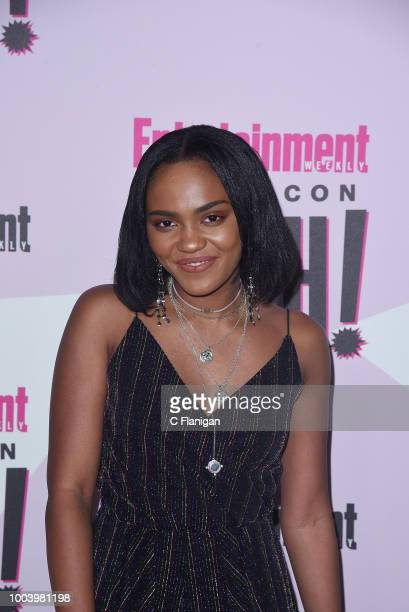 China Anne McClain attends the annual Entertainment Weekly ComicCon Celebration at Float at Hard Rock Hotel San Diego on July 21 2018 in San Diego...