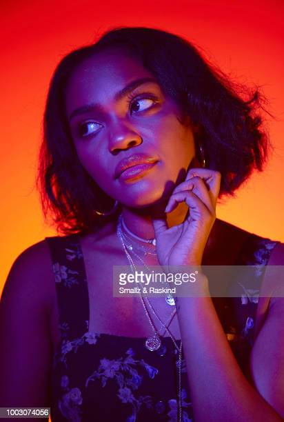 China Anne McClain from CW's 'Black Lightning' poses for a portrait at the Getty Images Portrait Studio powered by Pizza Hut at San Diego 2018 Comic...