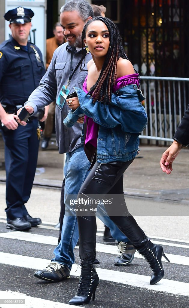 China Anne McClain is seen walking in midtown on May 17, 2018 in New York City.