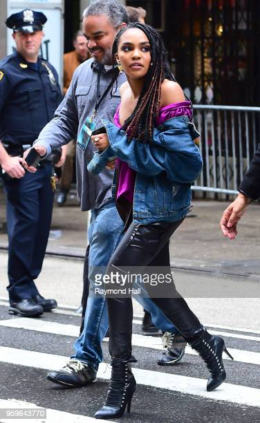 China Anne McClain is seen walking in midtown on May 17 2018 in New York City