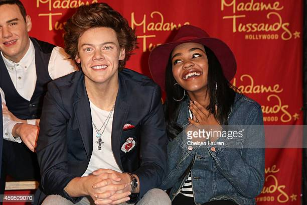 China Anne McClain of the McClain sisters attends the launch of Madame Tussauds Hollywood's figures of global chart topping superstars One Direction...
