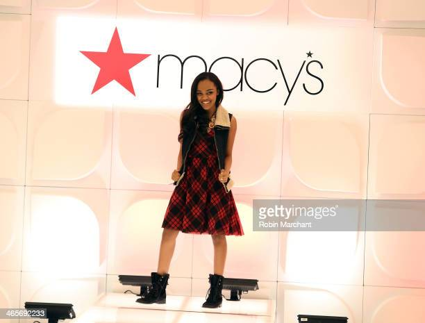 China Anne McClain walks the runway at Macy's Warm Welcome To Super Bowl XLVIII at Macy's Herald Square on January 28 2014 in New York City