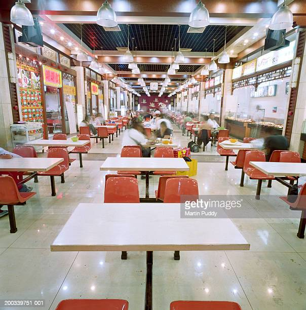 China, Beijing, Beijing Train Station, fast food restaurant (blurred)