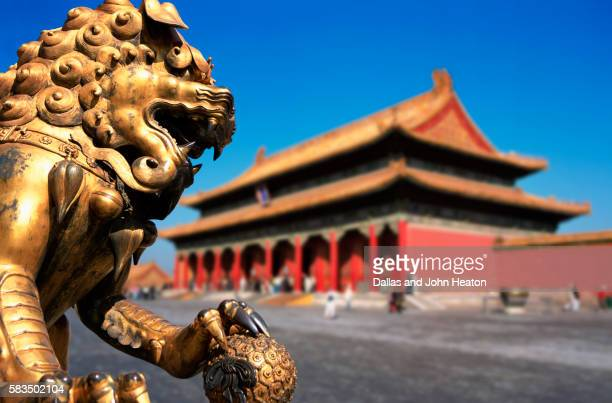 China, Beijing, Forbidden City, Golden Lion, Guardian