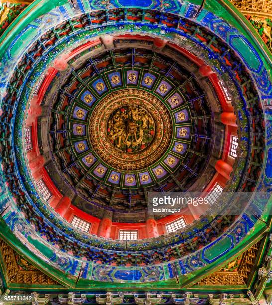 China Beijing Forbidden City Palace Chinese Golden dragon ceiling