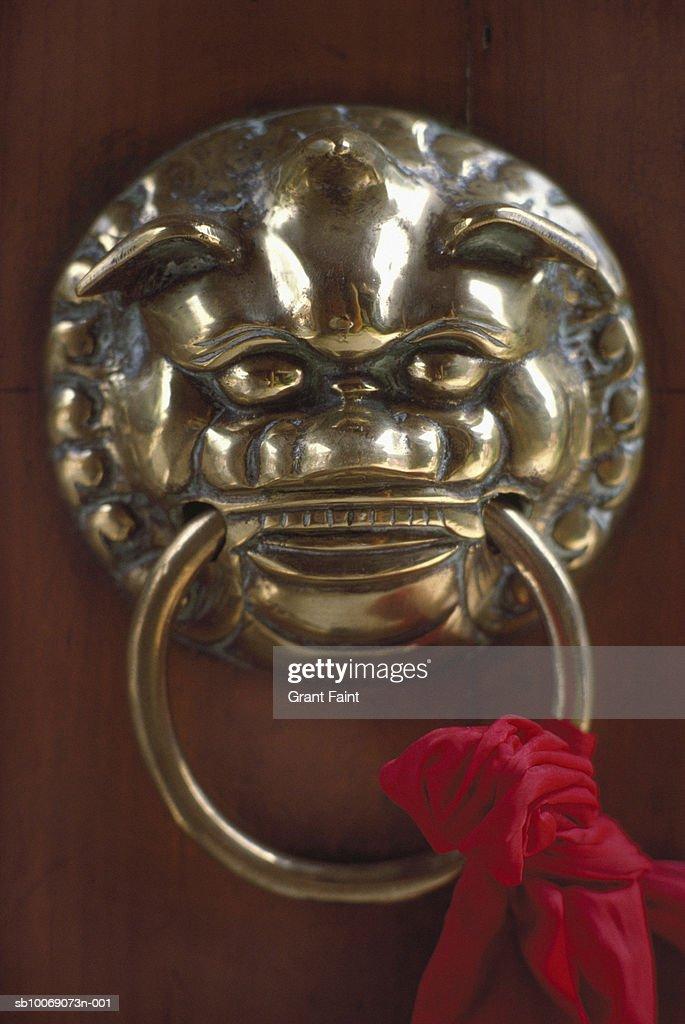 China, Beijing, Forbidden Palace, door handle, close-up : Stockfoto
