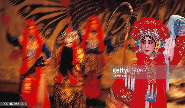 china, beijing (peking) opera performance - beijing opera stock photos and pictures