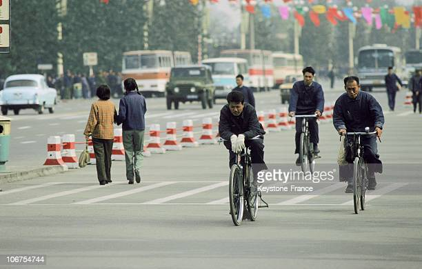 China Beijing Streets Life Cyclists
