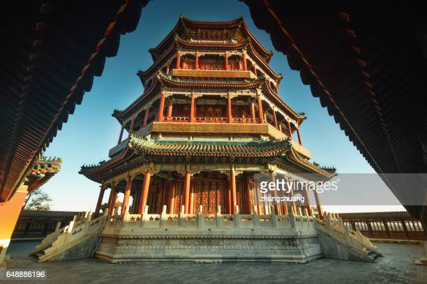 china, beijing, summer palace - beijing stock pictures, royalty-free photos & images