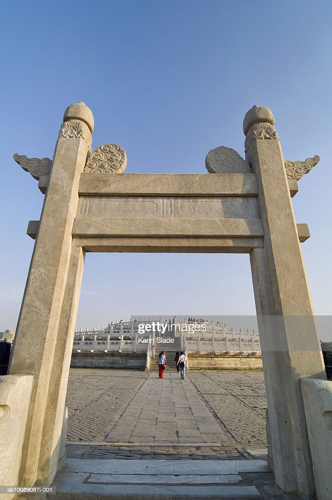 China, Beijing, Temple of heaven entrance gate : Stockfoto