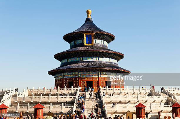 China, Beijing - Temple of Heaven, Hall of Prayer for Good Harvests.