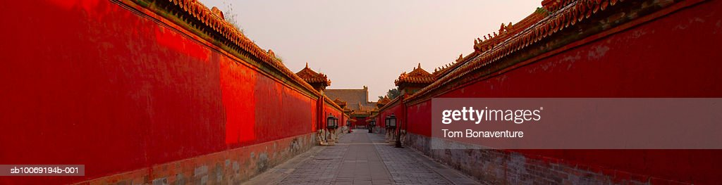 China, Beijing, The Forbidden City, Outer corridor : Stockfoto