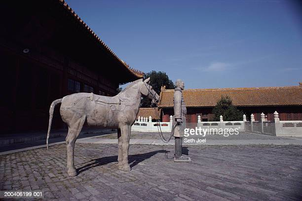 China, Beijing, The Forbidden City, terracotta warrior and horse