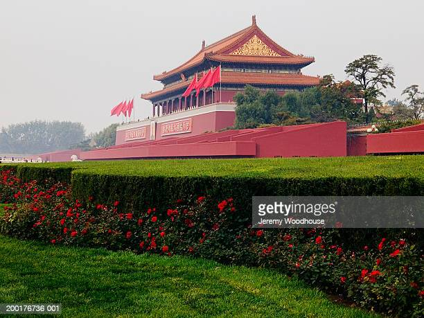 china, beijing, tiananmen gate of heavenly peace - jeremy woodhouse stock photos and pictures