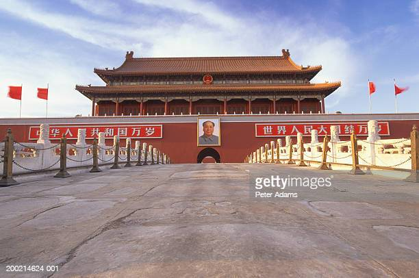 china, beijing, tiananmen gate - tiananmen square stock pictures, royalty-free photos & images