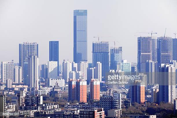 China building boom - Shenyang city skyline