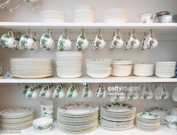 china cabinet - porcelain stock pictures, royalty-free photos & images