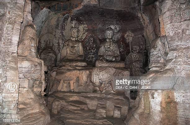 China Chongqing Dazu County Mount Baoding Dazu Rock Carvings Stone sculptures Tang Dynasty 11th century
