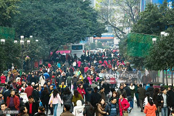 China, Chongqing Province, Yangzi River, City of Chongqing, Pedestrians, Jiefangbei (Liberation) Square
