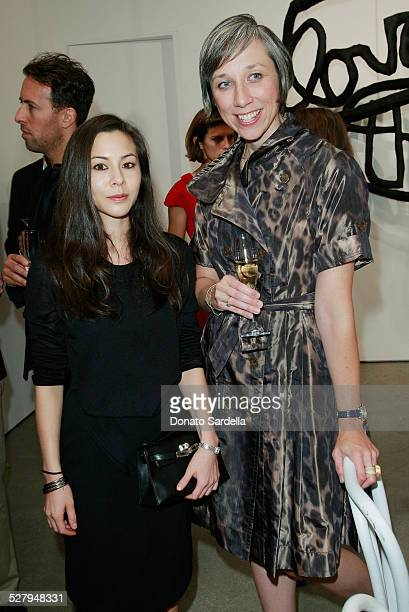 China Chow and artist Alexandra Grant attend a dinner hosted by Vogue and Mulberry celebrating the work of Alexandra Grant on display at the 'Some...