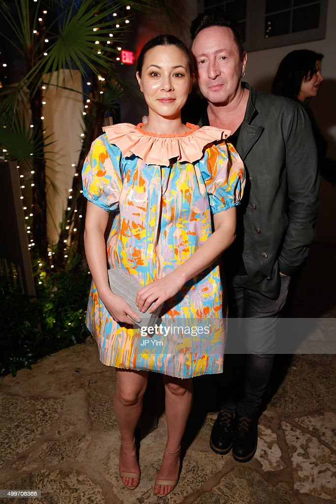 China Chow and Julian Lennon attend the Jeremy Scott Art Basel Party at The Hall on December 2, 2015 in Miami Beach, Florida.