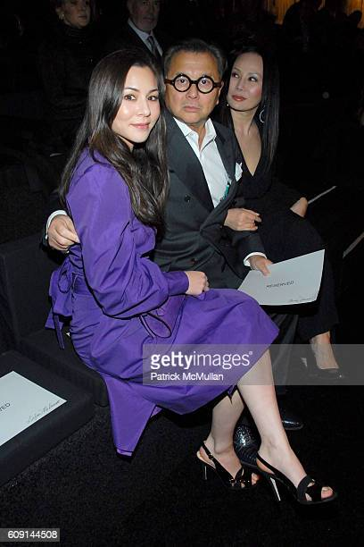 China Chow and Michael Chow attend GIORGIO ARMANI Prive in Los Angeles at Private Residence on February 24 2007 in Beverly Hills CA