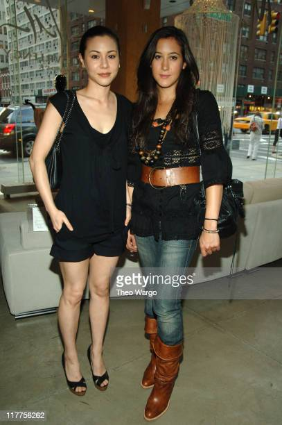 China Chow and Vanessa Carlton during Ruffian Celebrates Their Fall 2006 Collection at Maurice Villency in New York City, New York, United States.