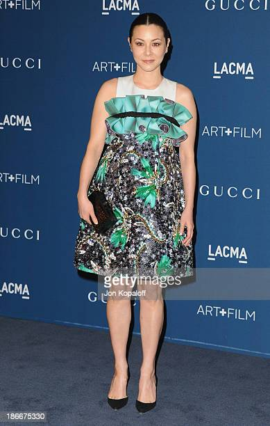 China Chow arrives at LACMA 2013 Art Film Gala at LACMA on November 2 2013 in Los Angeles California