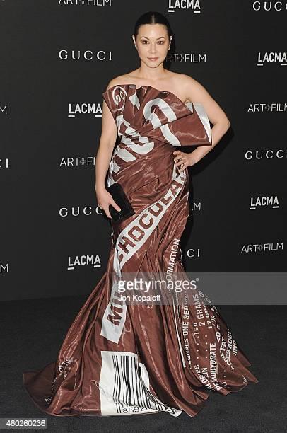 China Chow arrives at the 2014 LACMA Art Film Gala Honoring Quentin Tarantino And Barbara Kruger at LACMA on November 1 2014 in Los Angeles California