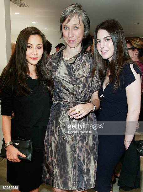 China Chow artist Alexandra Grant and Amanda Goldberg attend a dinner hosted by Vogue and Mulberry celebrating the work of Alexandra Grant on display...